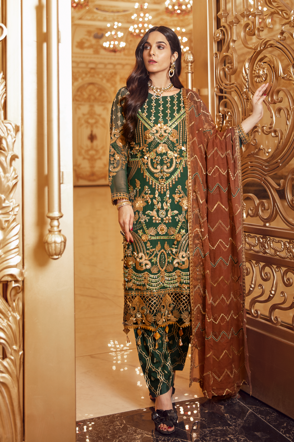Shop now EMAAN ADEEL | BELLE ROBE - BR-07 PEACE OUT at www.LebaasOnline.co.uk  Net embroidered hand mirror work, New Indian & Pakistani Designer Partywear Suits in the UK and USA at LebaasOnline. Browse new EMAAN ADEEL | BELLE ROBE - BR-07 PEACE OUT Chiffon, Wedding Party, Nikah & Walima dresses SALE at LebaasOnline.