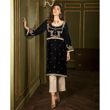 Load image into Gallery viewer, XENIA | VELVET FORMALS | JARDIN Buy Designer unstitched, stitched and ready wear Asian Indian Pakistani Salwar Kameez Suit Winter Collection 2020 in UK and USA Online Pakistani Suits available on LebaasOnline pakistanisuits pakistanisuitsonline pakistanisuitsinwholesaleprice pakistanisuitsdesign pakistanisuitsdesignswithpalazzos pakistanisuitsandkurtisonline