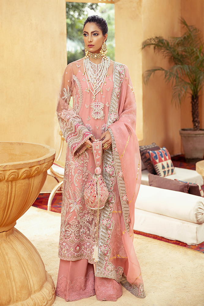 SUFFUSE Freesia Luxury Edition -ZEN : Suffuse by Sana Yasir Luxury Pakistani fashion brand with signature floral patterns, intricate aesthetics and glittering embellishments. Shop Now Suffuse Casual Pret, Suffuse Luxury Collection & Bridal Dresses 2020/21 from www.lebaasonline.co.uk on discount price-SALE!