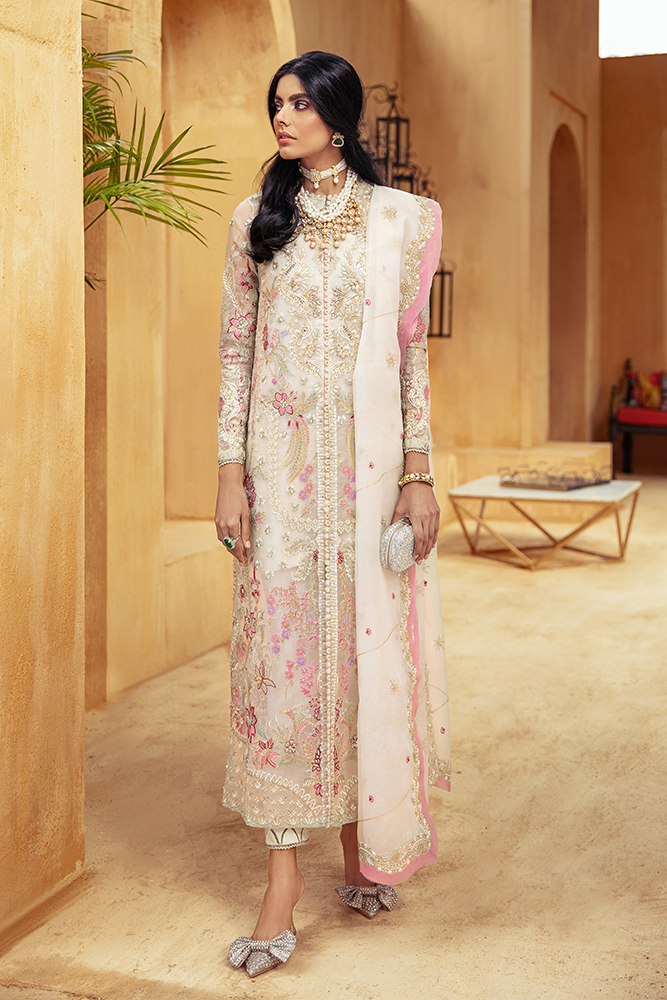 SUFFUSE Freesia Luxury Edition - WHISPER : Suffuse by Sana Yasir Luxury Pakistani fashion brand with signature floral patterns, intricate aesthetics and glittering embellishments. Shop Now Suffuse Casual Pret, Suffuse Luxury Collection & Bridal Dresses 2020/21 from www.lebaasonline.co.uk on discount price-SALE!