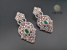 Load image into Gallery viewer, Maharani American diamond necklace Jewelry set inspired by Sabyasachi heritage collection - LebaasOnline