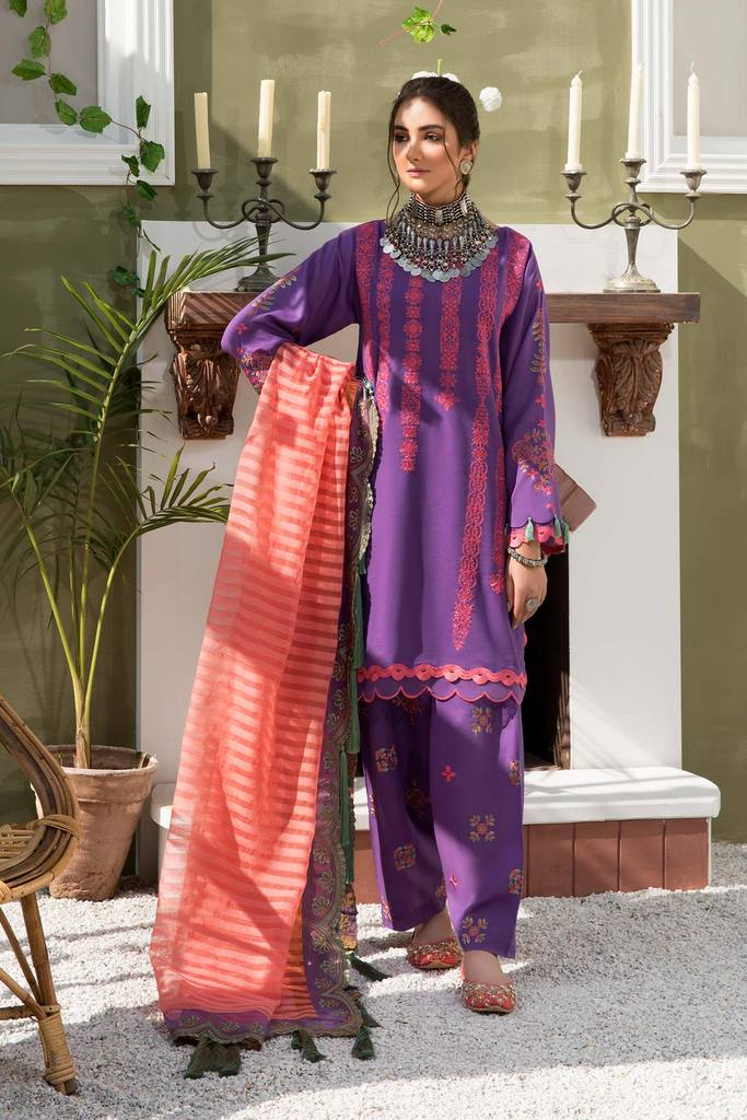 CHARIZMA | SIGNATURE KARANDI LAWN | Flamingo Iris CLK-07 : Buy Luxury Summer Lawn Suits by CHARIZMA LAWN 2021 Collection on SALE Price at LEBAASONLINE - largest stockists of Best Pakistani Designer stitched summer dresses such as Latest Fashion MARIA. B. CRIMSON & SANA SAFINAZ LAWN Suits in the UK, London, NEW YORK & USA