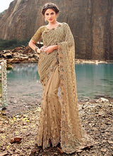 Load image into Gallery viewer, Golden Embroidered Saree