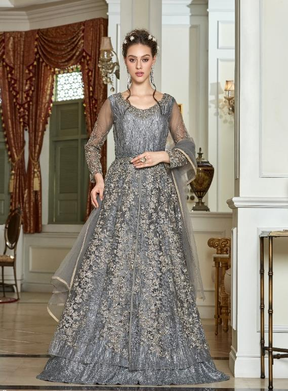 AYANN by Vipul 2020 Designer Anarkali Gowns - Grey