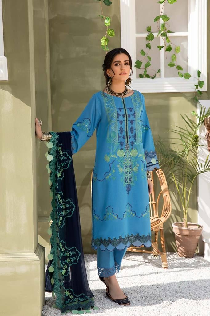 CHARIZMA | SIGNATURE KARANDI LAWN | Azure Mystic CLK-04 : Buy Luxury Summer Lawn Suits by CHARIZMA LAWN 2021 Collection on SALE Price at LEBAASONLINE - largest stockists of Best Pakistani Designer stitched summer dresses such as Latest Fashion MARIA. B. CRIMSON & SANA SAFINAZ LAWN Suits in the UK, London, NEW YORK & USA