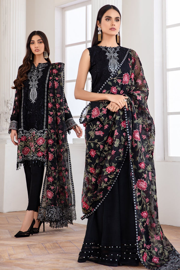 Buy Jazmin-Mehlika Pakistani Clothes For Women at Our Online Pakistani Designer Boutique UK, Indian & Pakistani Clothing and ready-made Asian Clothes UK Jazmin Suits, Baroque Embroidered Chiffon Collection 2020 & Indian Party Wear Outfits in USA on discount price exclusively available at our Online store Lebaasonline !