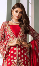 Load image into Gallery viewer, Maryum N Maria Premium Chiffon Suit Red - MMC02