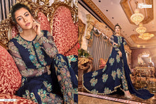 Load image into Gallery viewer, SNOWWHITE -Swagat Anarkali Suits in berry blue - LebaasOnline