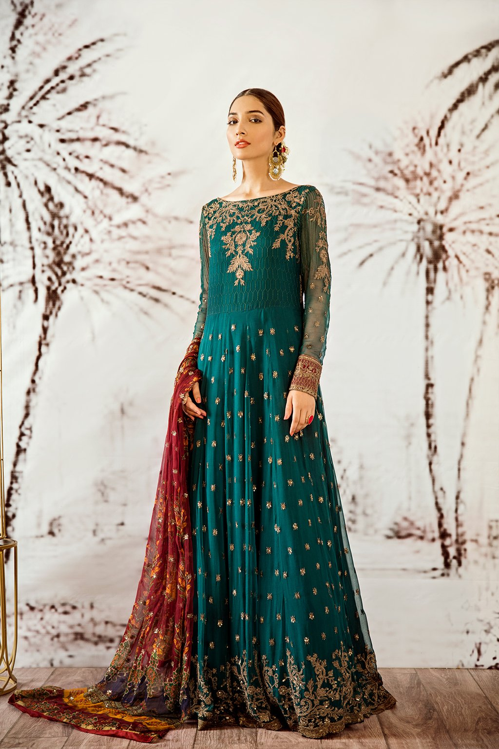 Iznik Designer Suit Wedding 2020-OIC-01 COBALT GREEN