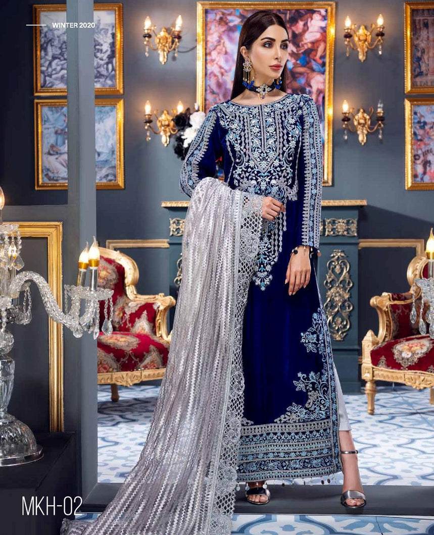 EMAAN ADEEL | Velvet Winter  Collection 2020-MKH02