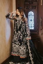 Load image into Gallery viewer, SUFFUSE Freesia Luxury Edition-IMPERIAL MYSTIQUE : Suffuse by Sana Yasir Luxury Pakistani fashion brand with signature floral patterns, intricate aesthetics and glittering embellishments. Shop Now Suffuse Casual Pret, Suffuse Luxury Collection & Bridal Dresses 2020/21 from www.lebaasonline.co.uk on discount price-SALE!