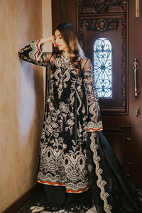 SUFFUSE Freesia Luxury Edition-IMPERIAL MYSTIQUE : Suffuse by Sana Yasir Luxury Pakistani fashion brand with signature floral patterns, intricate aesthetics and glittering embellishments. Shop Now Suffuse Casual Pret, Suffuse Luxury Collection & Bridal Dresses 2020/21 from www.lebaasonline.co.uk on discount price-SALE!