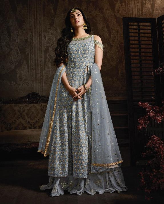 Maisha Indian Designer Anarkali Suit-Midnight Blue