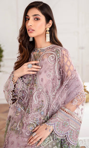 Buy Jazmin-Azel Pakistani Clothes For Women at Our Online Pakistani Designer Boutique UK, Indian & Pakistani Clothing and ready-made Asian Clothes UK Jazmin Suits, Baroque Embroidered Chiffon Collection 2020 & Indian Party Wear Outfits in USA on discount price exclusively available at our Online store Lebaasonline !