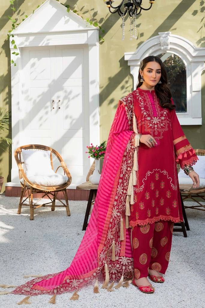 CHARIZMA | SIGNATURE KARANDI LAWN | Pink Frost CLK-03 : Buy Luxury Summer Lawn Suits by CHARIZMA LAWN 2021 Collection on SALE Price at LEBAASONLINE - largest stockists of Best Pakistani Designer stitched summer dresses such as Latest Fashion MARIA. B. CRIMSON & SANA SAFINAZ LAWN Suits in the UK, London, NEW YORK & USA