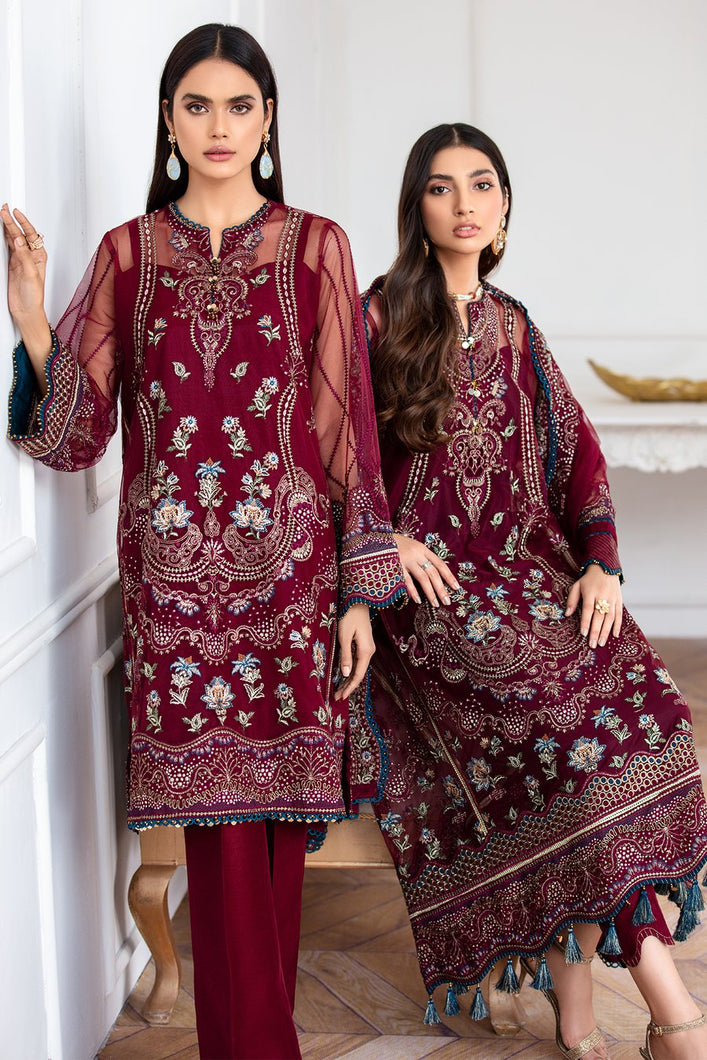 Buy Jazmin-Soulmaz Pakistani Clothes For Women at Our Online Pakistani Designer Boutique UK, Indian & Pakistani Clothing and ready-made Asian Clothes UK Jazmin Suits, Baroque Embroidered Chiffon Collection 2020 & Indian Party Wear Outfits in USA on discount price exclusively available at our Online store Lebaasonline !