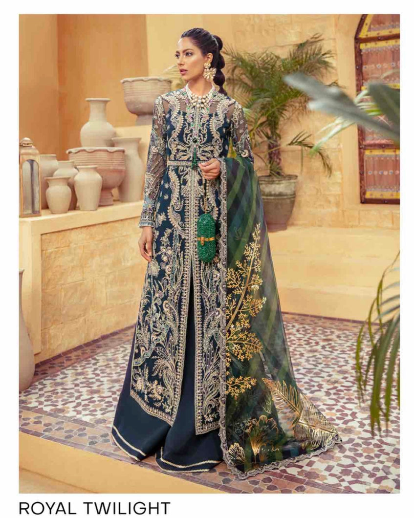 SUFFUSE Freesia Luxury Edition - Royal Twilight : Suffuse by Sana Yasir Luxury Pakistani fashion brand with signature floral patterns, intricate aesthetics and glittering embellishments. Shop Now Suffuse Casual Pret, Suffuse Luxury Collection & Bridal Dresses 2020/21 from www.lebaasonline.co.uk on discount price-SALE!