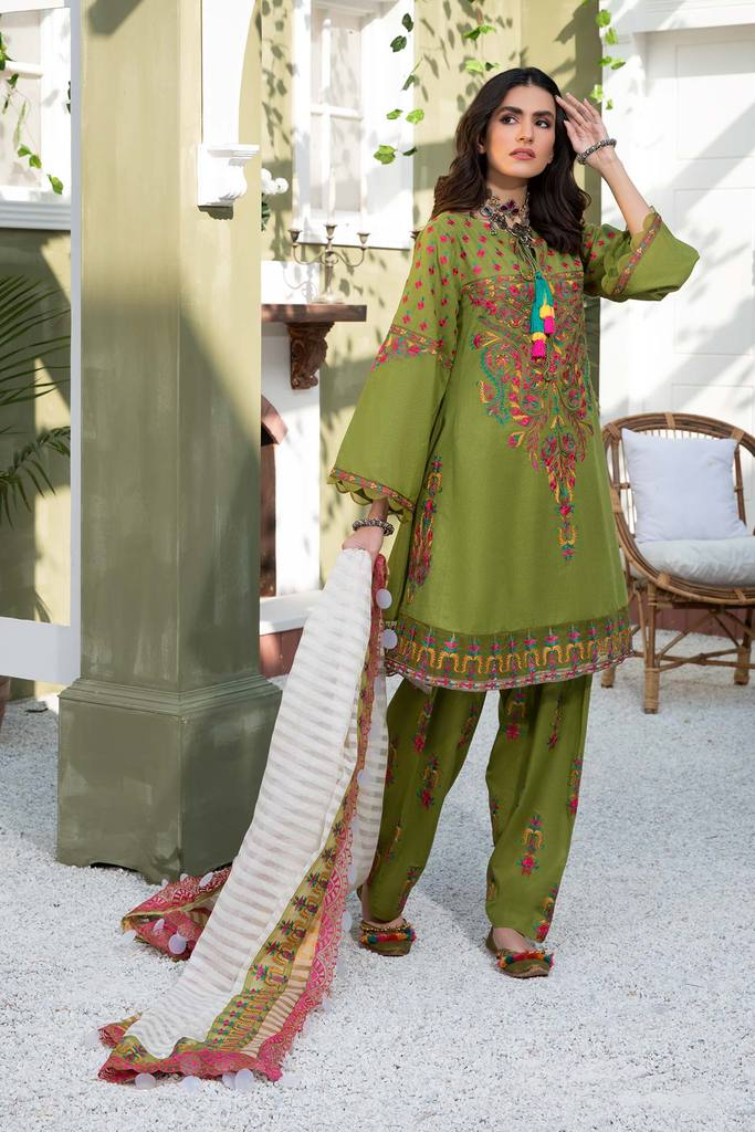 CHARIZMA | SIGNATURE KARANDI LAWN | Greenland Meadows CLK-02 : Buy Luxury Summer Lawn Suits by CHARIZMA LAWN 2021 Collection on SALE Price at LEBAASONLINE - largest stockists of Best Pakistani Designer stitched summer dresses such as Latest Fashion MARIA. B. CRIMSON & SANA SAFINAZ LAWN Suits in the UK, London, NEW YORK & USA