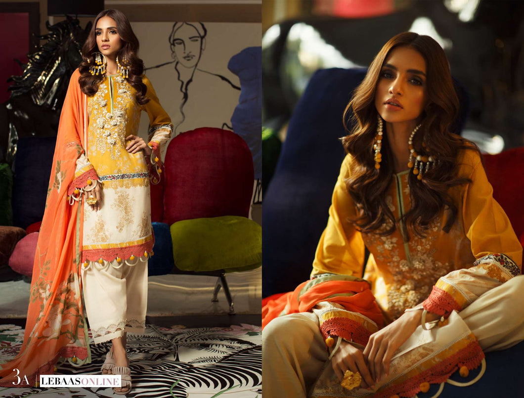 SANA SAFINAZ Spring / Summer 2020 MAHAY 3A Lawn Suit online Pakistani designer dress Anarkali Suits Party Werar Indian Dresses Pakistani Dresses