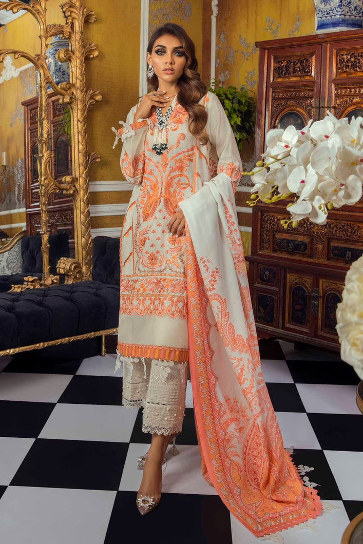 Buy SANA SAFINAZ | Muzlin Lawn 2021-03A ORANGE from Lebaasonline Pakistani Clothes Stockist in the UK @ best price- SALE ! Shop Eid Dress 2021, Maria B Lawn 2021 Summer Suits, New Pakistani Clothes Online UK for Eid, Party & Bridal Wear. Indian & Pakistani Summer Lawn Dresses by SANA SAFINAZ in UK & USA at LebaasOnline