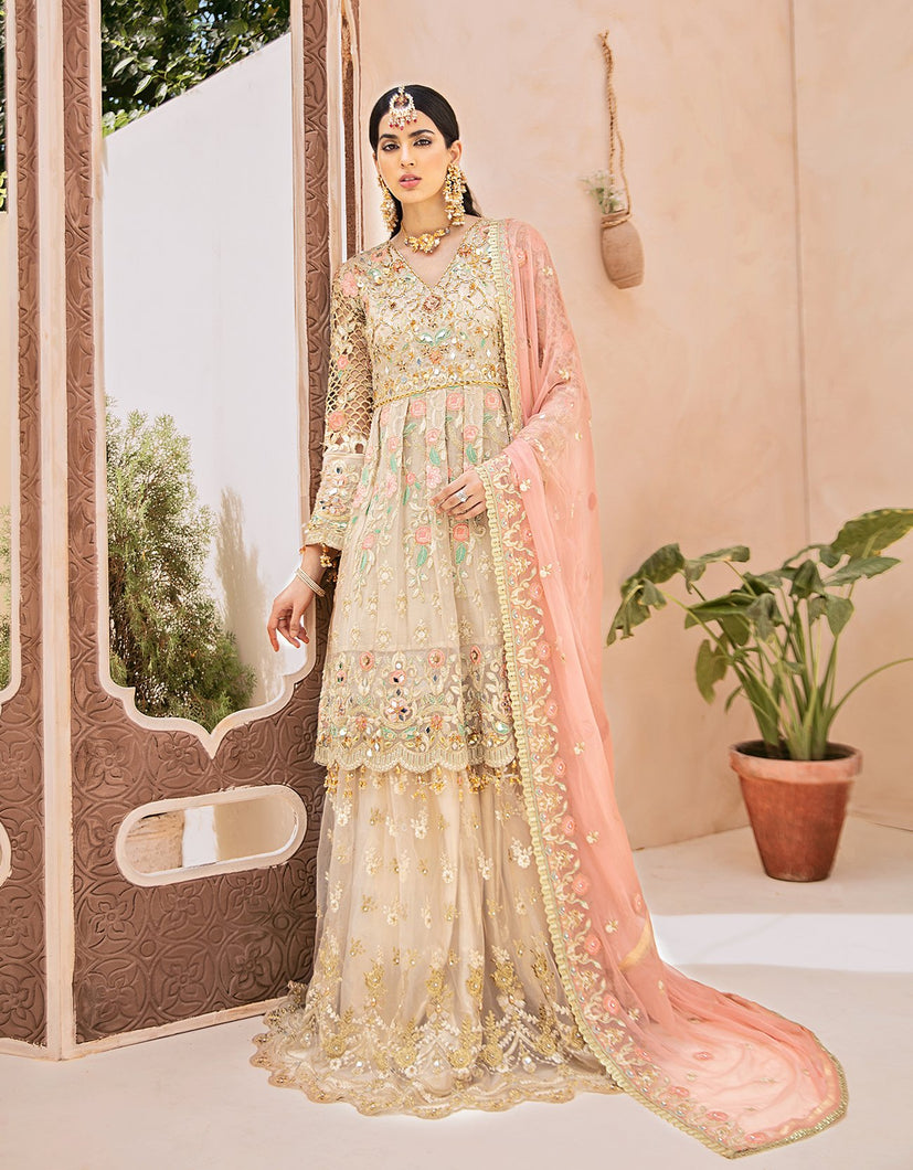Emaan Adeel Bridal Collection 2020 Volume 3-SALMON BLUSH D-303