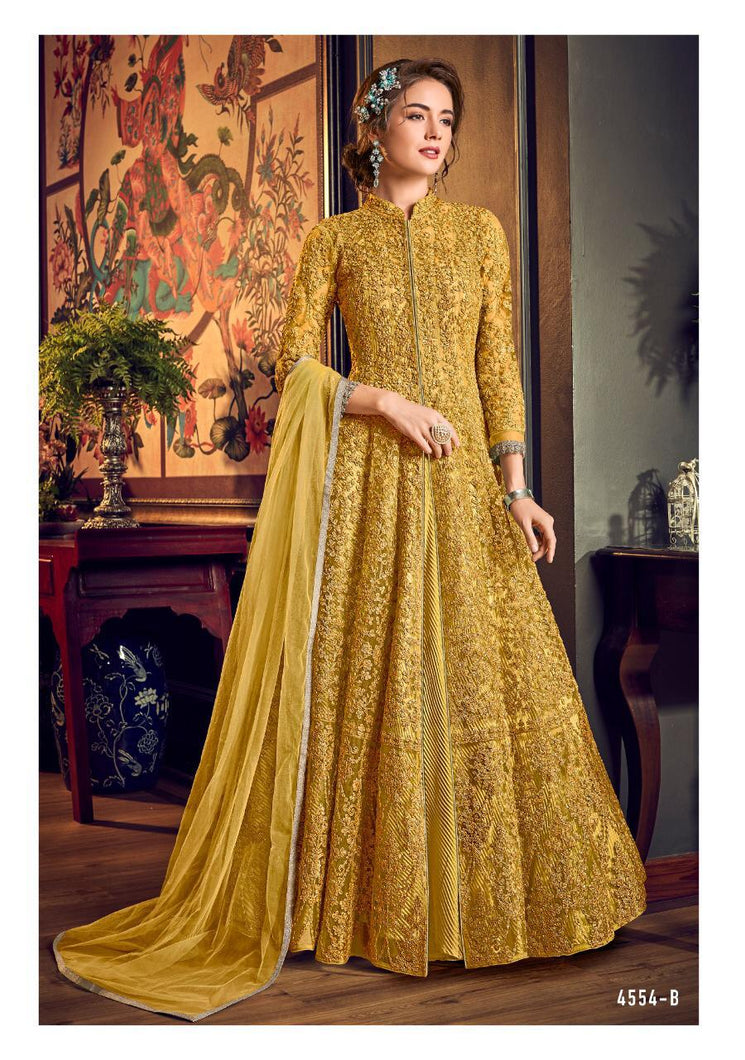 Vipul Julia Indian Gown 2020 - DNo:4554-B