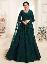 Load image into Gallery viewer, Dark Green Heavy Embroidered Lehenga by Alizeh