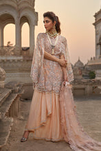 Load image into Gallery viewer, Peach Pink Crimson Designer Pakistani Suit - LebaasOnline