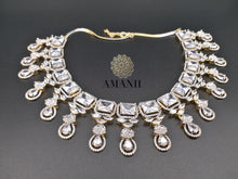 Load image into Gallery viewer, Silver Gold American Diamond Jewellery Set - LebaasOnline