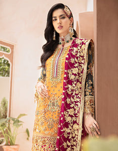Emaan Adeel Bridal Collection 2020 Volume 3-CARNATION ROSE D-304