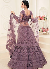 Load image into Gallery viewer, Purple Heavy Embroidered Lehenga by Alizeh