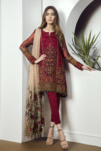 CHERRY ROSE - Baroque Chantelle Chiffon Pakistani Suit
