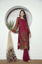 Load image into Gallery viewer, CHERRY ROSE - Baroque Chantelle Chiffon Pakistani Suit
