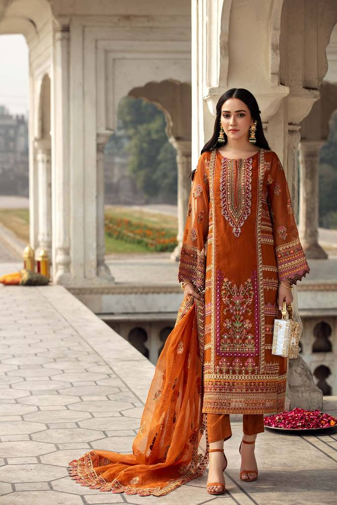 CHARIZMA | DASTAN-E-JASHAN | Orange Noor-e-Qamar DJ-01 : Buy CHARIZMA Pakistani clothing brand at our Online store. Lebaasonline Has all the latest Women`s Clothing Collection of Salwar Kameez, Indian & Pakistani  Bridal and Wedding Party attire Collection. Shop CHARIZMA ORIGINAL DESIGNER DRESSES IN THE UK ONLINE.