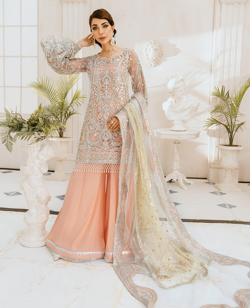 Shop NOW Maryum N Maria Chiffon (FG-07) Wedding Festival Pakistani party wear @www.LebaasOnline.co.uk. An ethnic suits worked upon rust Cotton Net base, New Indian & Pakistani Designer Party wear Indian & Pakistani Suits in the UK & USA @ LebaasOnline. Browse new Freesia Chiffon Wedding Party & Casual dresses-SALE