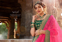 Load image into Gallery viewer, Green Lehenga by Nakkashi 2020 - LebaasOnline