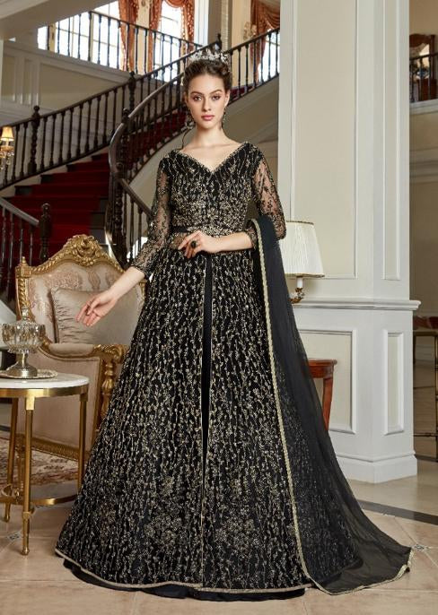 AYANN by Vipul 2020 Designer Anarkali Gowns - Black