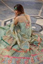 Load image into Gallery viewer, Sophisticated Green Sharara Suit For Luxury Wedding - LebaasOnline