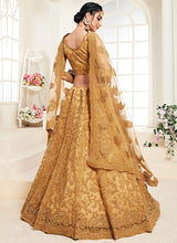 Load image into Gallery viewer, Gold Heavy Embroidered Lehenga by Alizeh