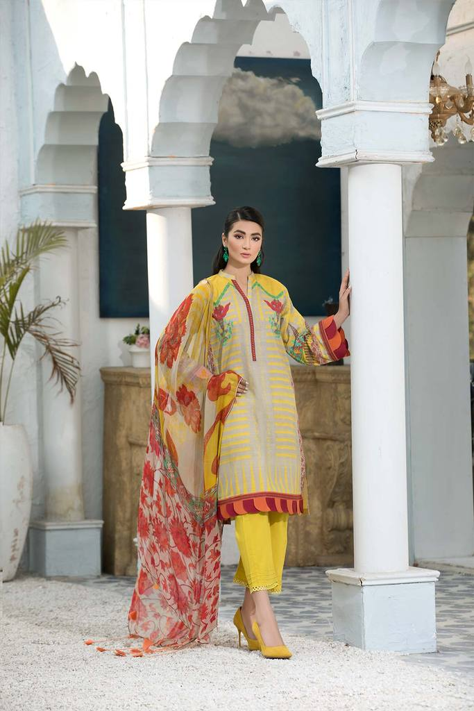 Buy CHARIZMA - C-PRINT 2021 Yellow at Lebaasonline Pakistani Clothes Stockist in the UK @ best price- SALE ! Shop Noor LAWN 2021, Maria B Lawn 2021 Summer Suits, Pakistani Clothes Online UK for Wedding, Party & Bridal Wear. Indian & Pakistani Summer Dresses by CHARIZMA - C-PRINT 2021 in the UK & USA at LebaasOnline.
