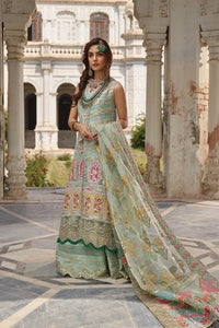 Sophisticated Green Sharara Suit For Luxury Wedding - LebaasOnline