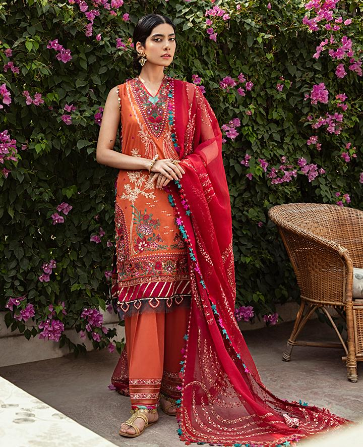 VAADA Eid Collection 2020 - ZEBAYISH - Mu 5 (B) online Pakistani designer dress Anarkali Suits Party Werar Indian Dresses Pakistani Dresses