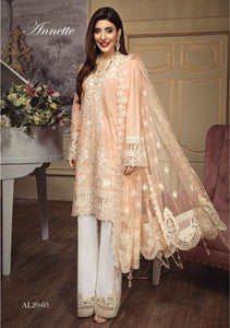 Anaya Luxury Lawn 2020 Suit pearly peach