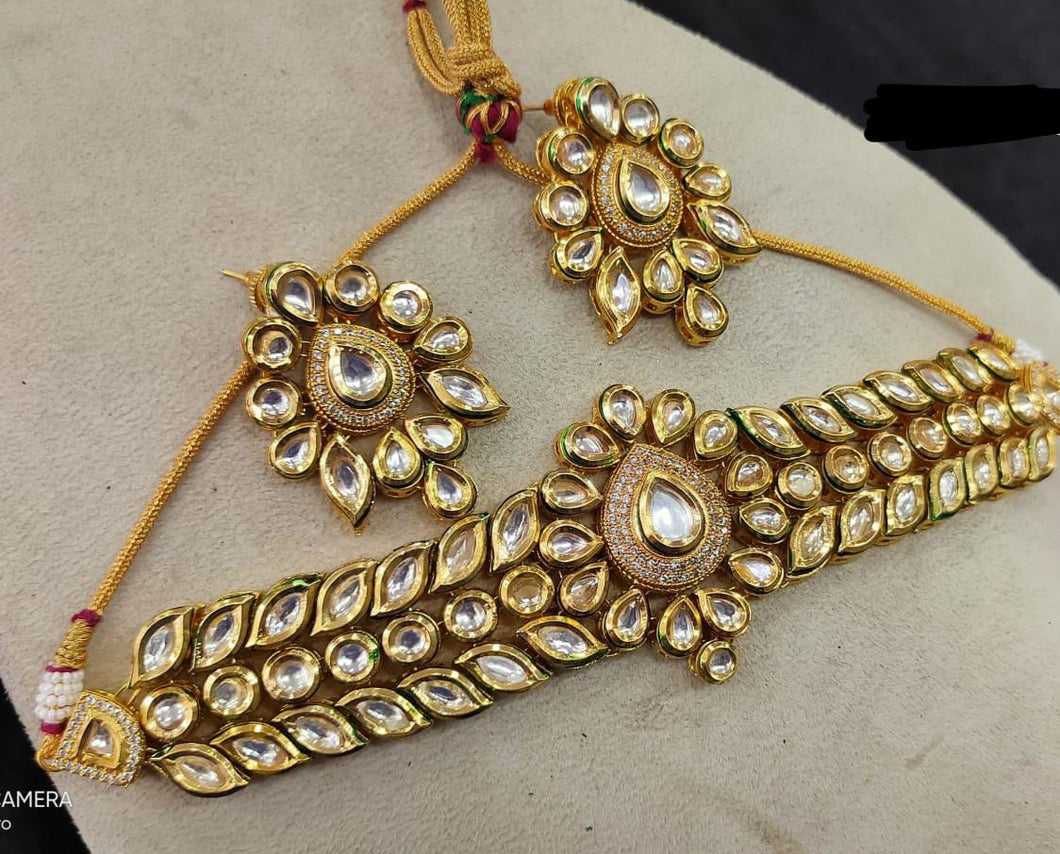 Shop for a wide collection of Kundan Jewellery for great prices at LebaasOnline. Checkout up-to-date models, new arrivals, deals and discounts on Indian, Kundan Jewellery Sets today for any weddings, party's and many more celebrations.  INDIAN KUNDAN JEWELLERY SETS MULTICOLOURED KUNDAN JEWELLERY DESIGNS  LebaasOnline offers ethnic Kundan jewelry designs, kundan jewellery sets, Silver or Gold plated, bridal fashion and Kundan Jewellery sets.  WEDDING/ BRIDAL KUNDAN SETS