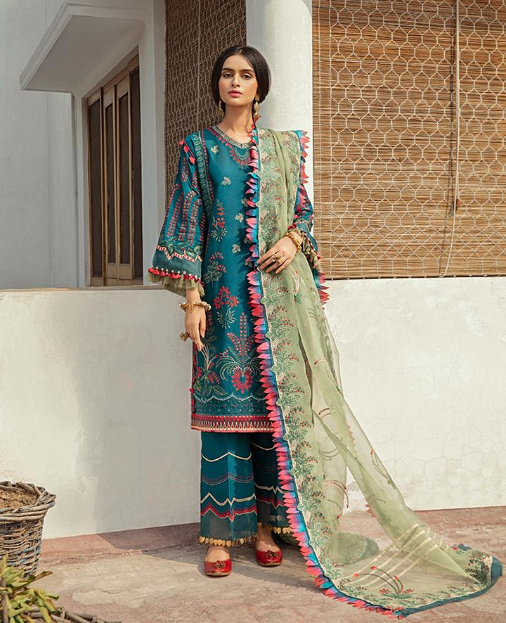 VAADA Eid Collection 2020 - ZEENIYA - Mu 6 (A) online Pakistani designer dress Anarkali Suits Party Werar Indian Dresses Pakistani Dresses
