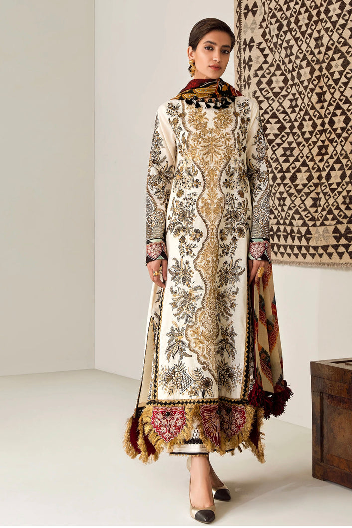 ELAN WINTER COLLECTION 2020 - EW20-08 PAKISTANI DRESSES & READY MADE PAKISTANI CLOTHES UK. Buy Now Elan UK Embroidered Collection of Winter Lawn, Original Pakistani Brand Clothing, Unstitched & Stitched suits for Indian Pakistani women. Next Day Delivery in the UK. Express shipping to USA, France, Germany & Australia.