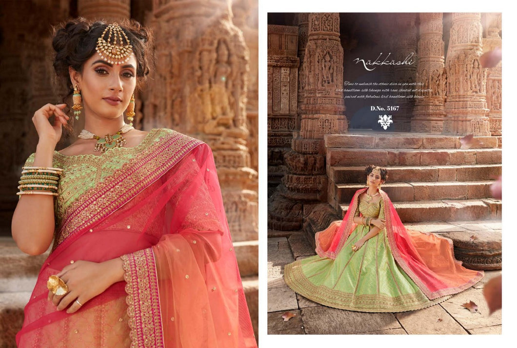 Light Green Lehenga by Nakkashi 2020 - LebaasOnline