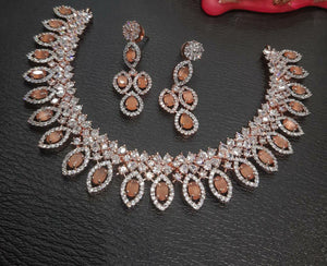 Indian Jewellery Bridal American Diamond Set DS77
