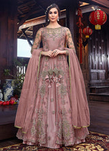 Load image into Gallery viewer, Mauve and Gold Embroidered Jacket Style Anarkali