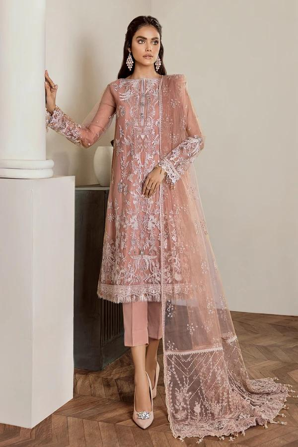 Buy Baroque Chiffon Collection 2021, Pink from Lebaasonline Pakistani Clothes Stockist in the UK @ best price- SALE ! Shop  Baroque, Noor LAWN 2021, Maria B Lawn 2021 Summer Suits, Pakistani Clothes Online UK for Wedding, Party & Bridal Wear. Indian & Pakistani Summer Dresses by  Baroque in the UK & USA at LebaasOnline.